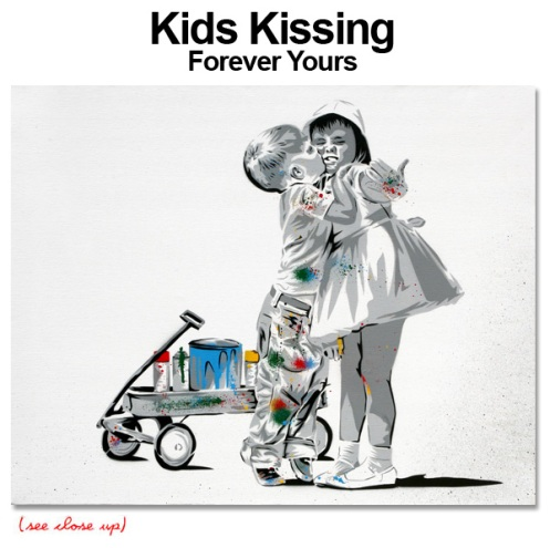Mr Brainwash 'Kids Kissing' Edition of 3 Size: 30 x 24 Inches $7,500