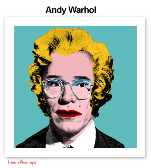 Mr Brainwash 'Andy Warhol' Edition of 100 Size: 15 x 15 Inches $250 Each