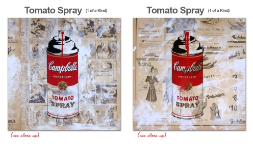 Mr Brainwash 'Tomato Spray' Unique Size: 15 x 15 Inches $1800 Each