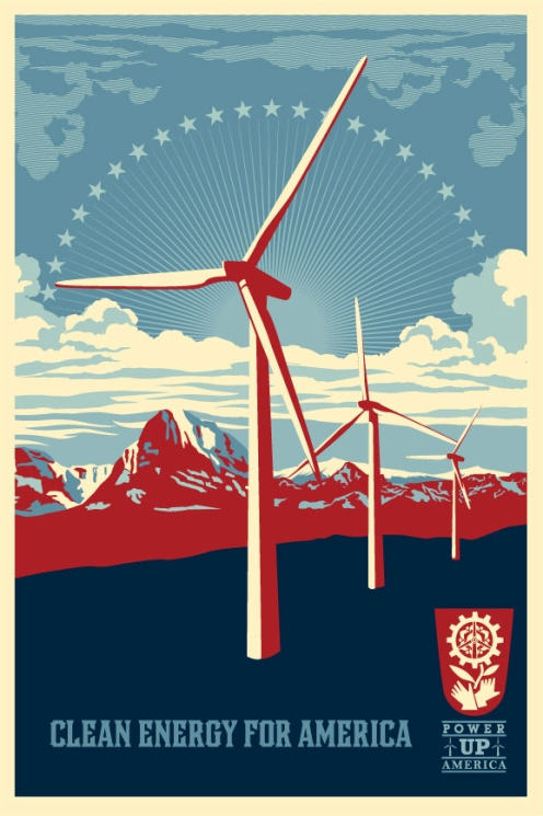 Obey 'Power Up Windmill' Offset Edition Size: 24 x 36 Inches $35 Each