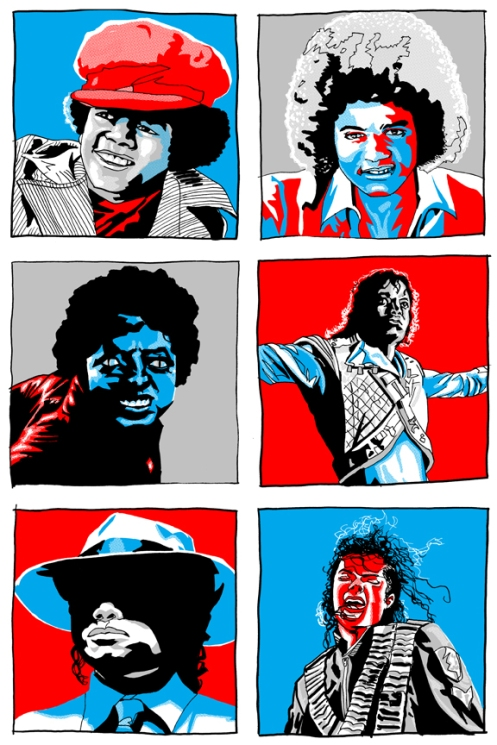 Tim Doyle 'Michael Jackson x 6' Edition of 100 Size: 16 x 24 Inches $30 Each