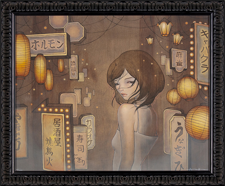Audrey Kawasaki 'Saying Goodbye' Edition of 200 Size: 22 x 18 Inches $220 Each