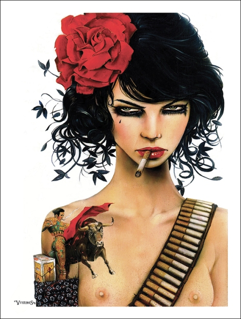 Brian Viveros 'Mess With The Bull' Edition of Size: 12 x 16 Inches
