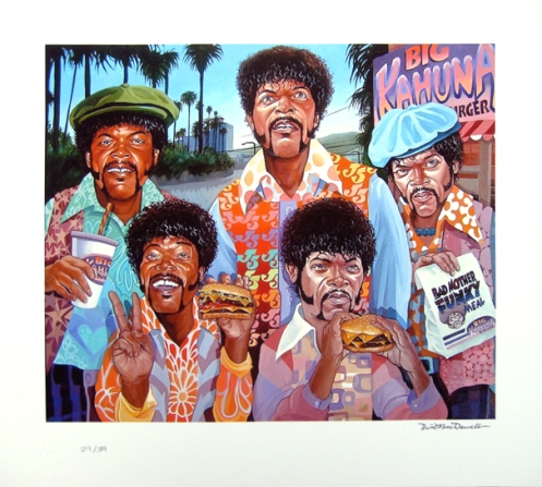Dave MacDowell 'Samuel Jackson 5' Edition of 39 Size: 17 x 15 Inches $60 Each
