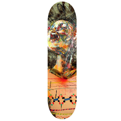 David Choe 'Sweater' Skate Deck Edition 150 Size: 7.5 x 31 Inches $100 Each