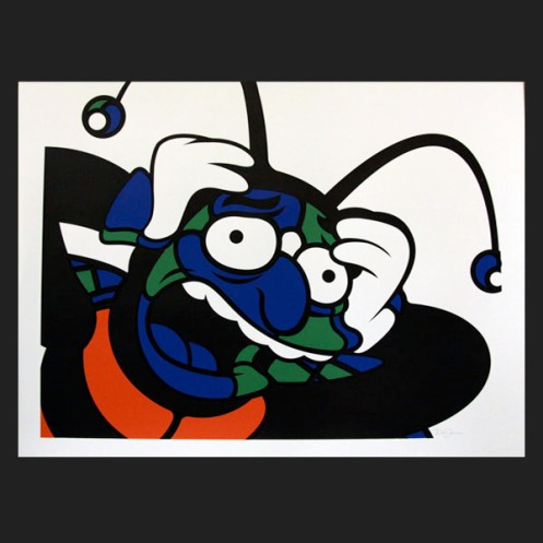 David Flores 'Bee Man' OR/GR/BL Edition of 9 Size: 24 x 18 Inches $50 Each