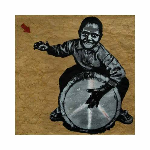 Jef Aerosol 'Can Music Change The World' 25 Hour Sale Size: 100 x 100 cm