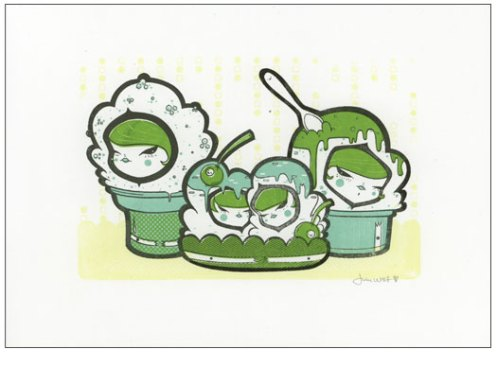 'Green Ice Cream People' Edition of 4 Size: 6 x 4 Inches $30 Each