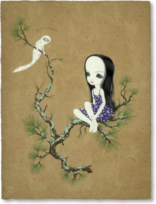 Mark Ryden 'Silence' Edition of 50 Size: 22 x 28 Inches $6,000 Each