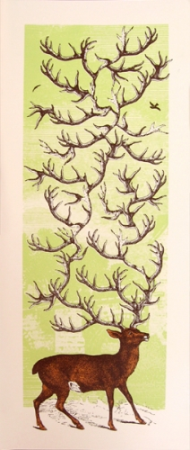Nate Duval 'Antlers' Green Edition of 75 Size: 9 x 22 Inches $30 Each