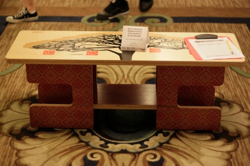 Obey 'Monkey Pod' Bench Auction Closed At $