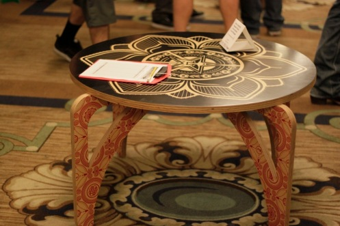 Obey 'Propaganda' Table Auctioned Off Yesterday
