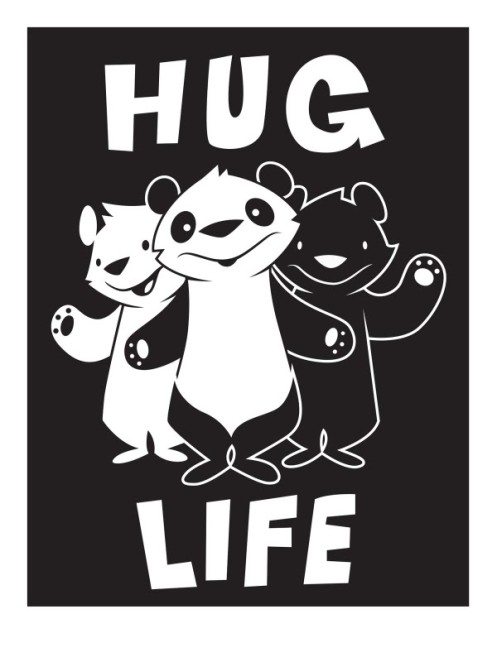 Philip Lumbang 'Hug Life' Edition of 100 Size: 18 x 24 Inches $