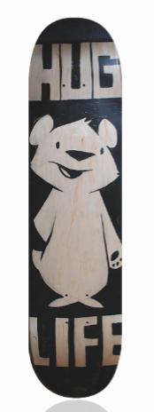 Philip Lumbang 'Hug Life' Size: 7.75 x 32 Inches $250