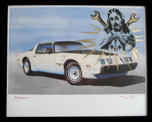 Punchgut 'Jesus Built My Hot Rod' Edition of 4 Size: 20 x 16 Inches $50 Each