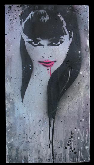 Punchgut 'Paint It Black' Original 15 x 28 x 1.5 Inches $310