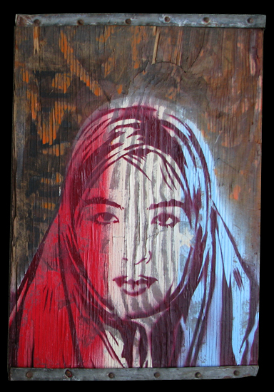 Punchgut 'Rox In' Mixed Media On Wood + Metal Size: 12 x 17 x .5 Inches $200