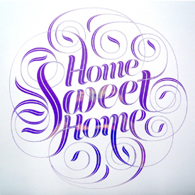 Seb Lester 'Home Sweet Home' Edition of 100 Size: 42 x 42 cm £25-£125 Each