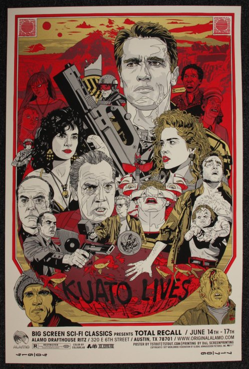 Tyler Stout 'Total Recall' Regular Edition Size: 24 x 36 Inches