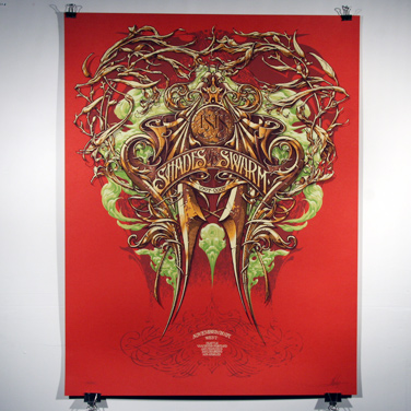 Aaron Horkey 'Isis: Shades Of The Swarm' Edition of 244 Size: 22 x 30 Inches $30.95 Each