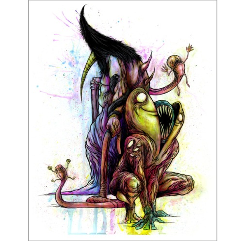 Alex Pardee 'The Puppeteer...' Edition of 50 Size: 17 x 22 Inches $60 Each