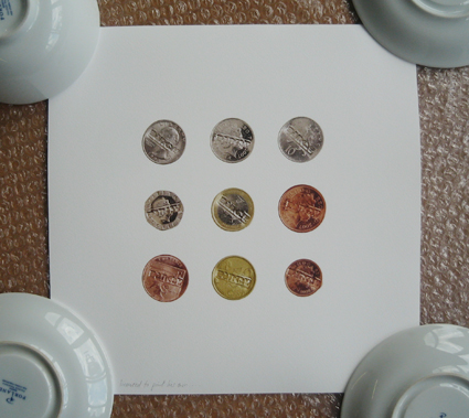 BA5H 'Nine Banksy Coins' Edition of 100 Size: 30 x 30 cm £100 Each