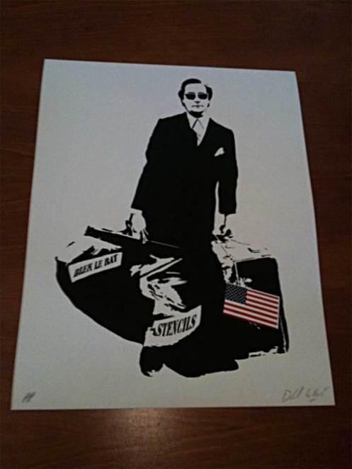 Blek Le Rat 'The Man Who Walks Through Walls' A/P's Size: 9 x 12 Inches $150 Each