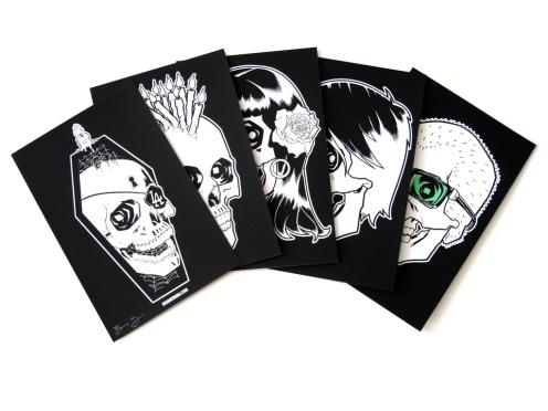 Brian Ewing 'GITD Skulls' Size: 6 x 9 Inches $25/Set Of 5 Prints