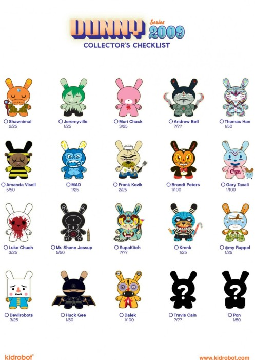 Dunny 2009 'Series 6' Checklist