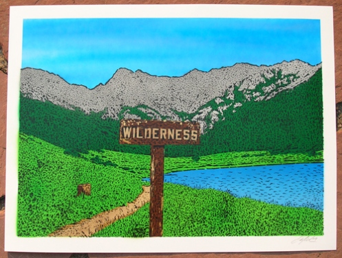 Ian Millard 'Wilderness' Blue Sky Edition of 25 Size: 24 x 18 Inches $75 Each
