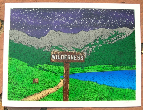 Ian Millard 'Wilderness' Night Sky Edition of 25 Size: 24 x 18 Inches $75 Each