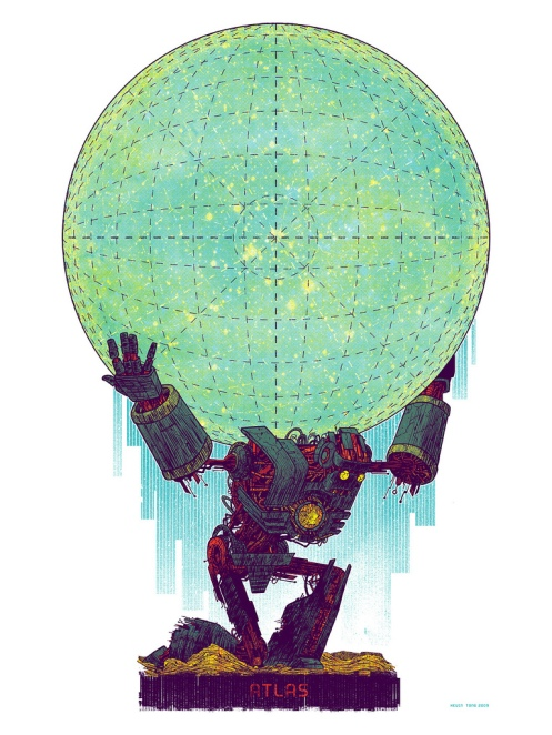 Kevin Tong 'Atlas' Nakatomi Edition of 100 Size: 18 x 24 Inches $30 Each