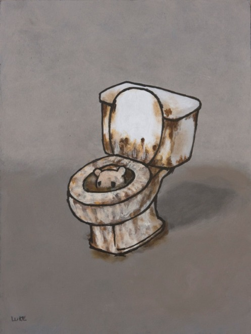 Luke Chueh 'Ring 8 Bolgia 2 Flatterers' Original 9 x 12 Inches $1,250