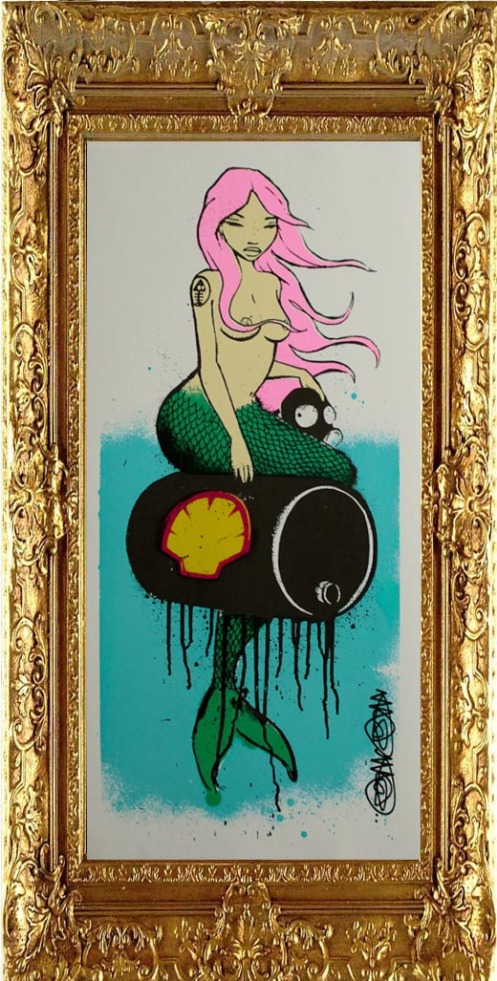 Mau Mau 'Mermaid In Oils' Pink Edition of 12 £75 Each