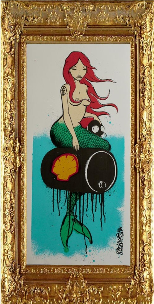 Mau Mau 'Mermaid In Oils' Red Edition of 12 £75 Each