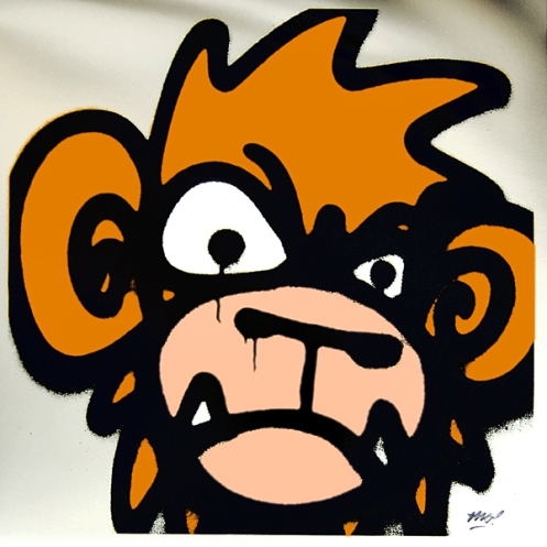 Mighty Mo 'Monkey' Orange Edition of 50 Size: 50 x 50 cm £50 Each