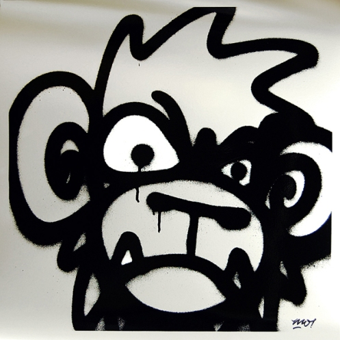 Mighty Mo 'Monkey' Silver Edition of 50 Size: 50 x 50 cm £75 Each