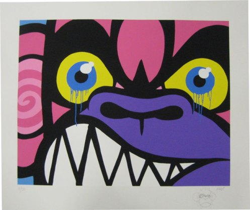 Mighty Mo 'The Angry Monkey' Edition of 50 Size: 67 x 56 cm £100 Each