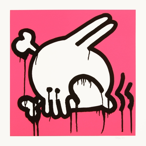 Nomad 'Skullbunny' Pink Edition of 75 Size: 55 x 55 cm £75 Each