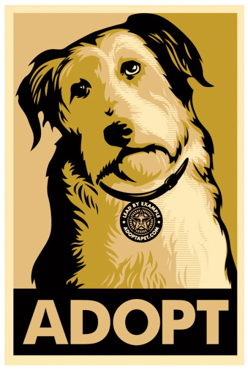 Obey 'Adopt' Lead By Example Gold Edition of 400 Size: 18 x 24 Inches $