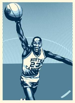 Obey 'Michael Jordan' North Carolina' Print Preview