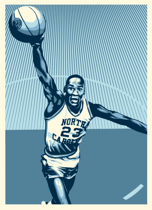 Obey Michael Jordan At North Carolina (UNC)