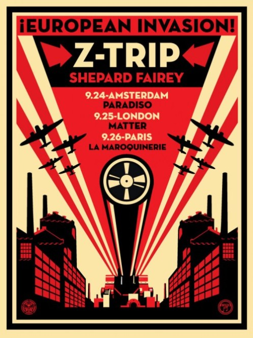 Obey 'European Invasion' Z-Trip Tour Poster Edition Size: 18 x 24 Inches $45 Each