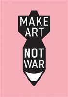 Paper Scissor Stone 'Make Art Not War' 2 Sizes 2 Prices