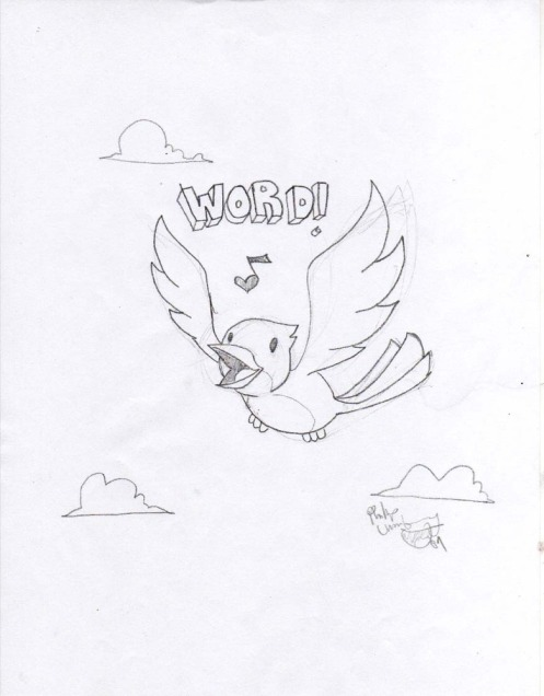 Philip Lumbang Original 'Bird Is The Word' Sketch Size: 8.5 x 11 Inches $75