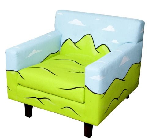 Philip Lumbang 'The Valley' Hand Painted Chair $2,000