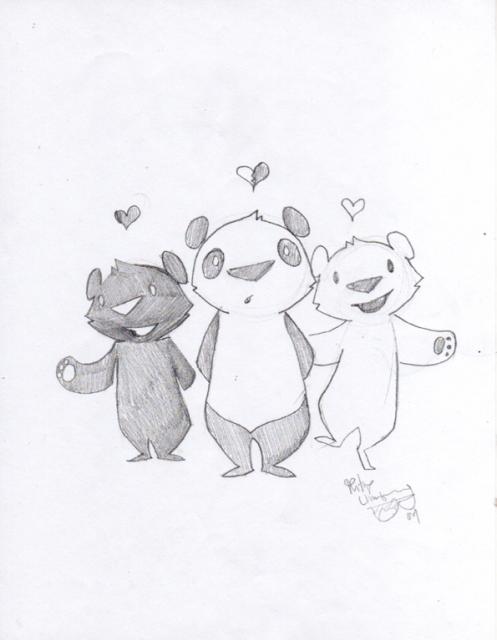 Philip Lumbang Original 'Trio' Sketch Size: 8.5 x 11 Inches $75