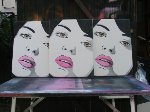 T3 'Brown Eyed Girl' Canvas Edition of 10 Size: 30 x 40 Inches £35 Each