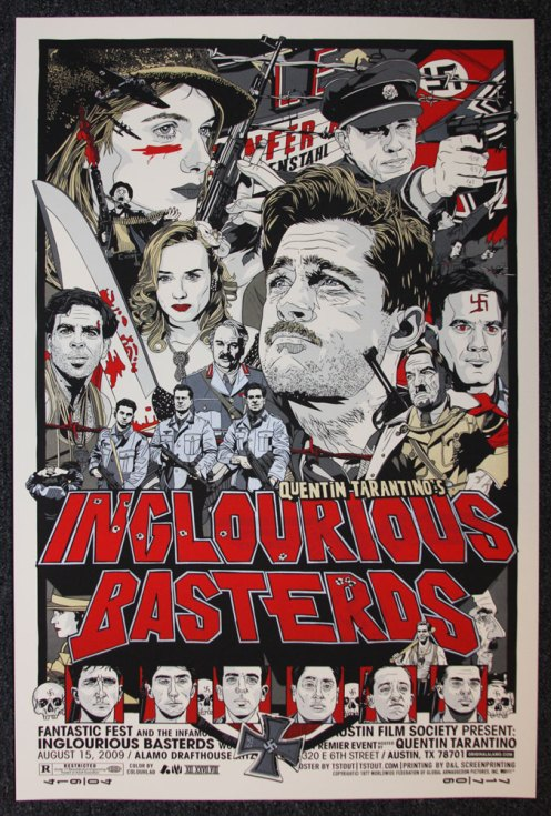 Tyler Stout 'Inglorious Basterds' Regular Edition of 150 Size: 24 x 36 Inches $45 Each
