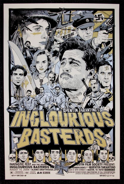 Tyler Stout 'Inglorious Basterds' Edition of 15 Size: 24 x 36 Inches $100 Each